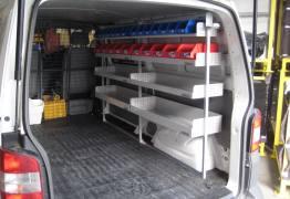 Van fitout - shelving
