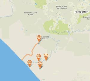 top 9 4WD off road tracks in WA - Yeagarup Dunes to Warren Beach Track, Pemberton