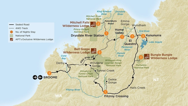 top 9 4WD off road tracks in WA - Kimberley Cross Roads